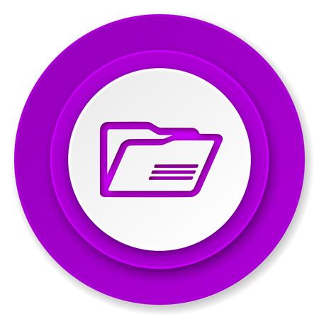 folder icon: folder icon, violet button