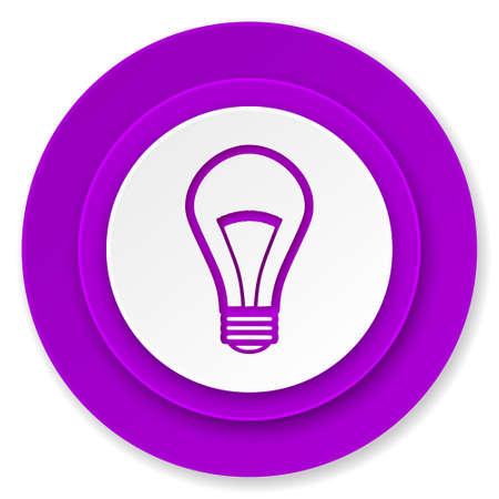 bulb icon: bulb icon, violet button, light bulb sign