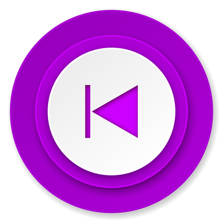 previous: previous icon, violet button