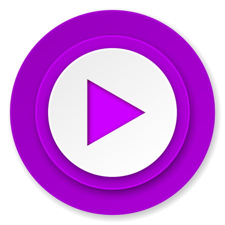 play icon: play icon, violet button