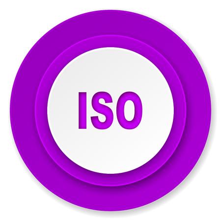 iso icon: iso icon, violet button