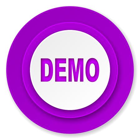 demo: demo icon, violet button
