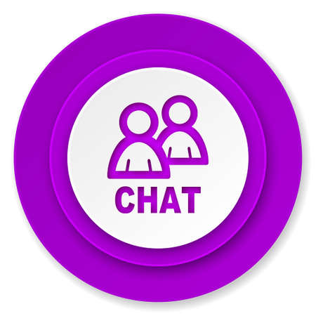 chat icon: chat icon, violet button