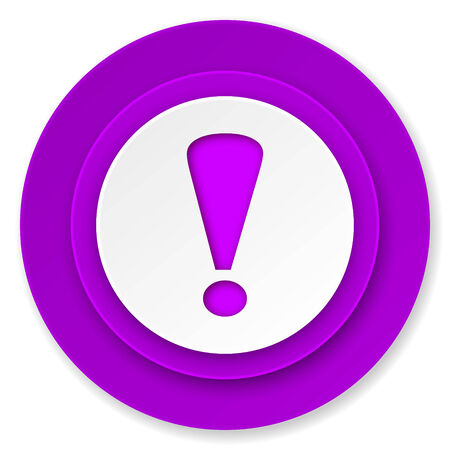 exclamation sign: exclamation sign icon, violet button, warning sign