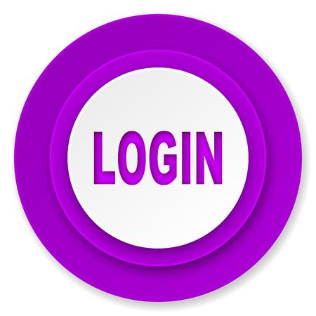 login icon: login icon, violet button