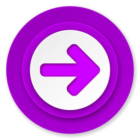 right arrow: right arrow icon, violet button, arrow sign Stock Photo