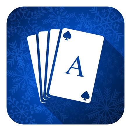 picto: casino flat icon, christmas button, hazard sign Stock Photo