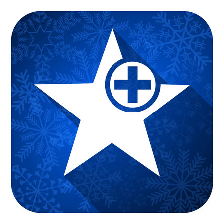 favourite: star flat icon, christmas button, add favourite sign