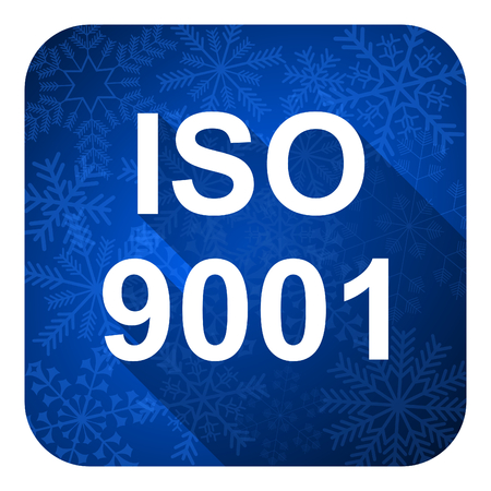 iso 9001 flat icon, christmas button photo