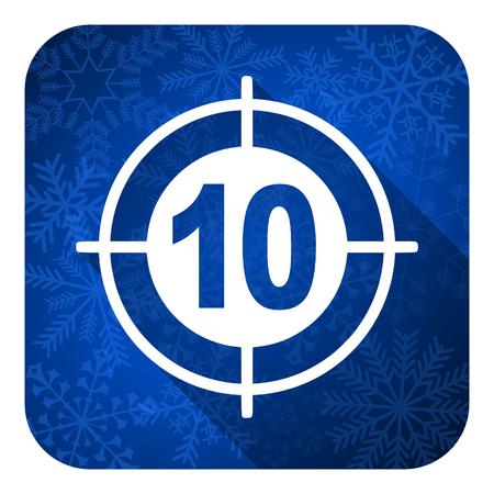 target flat icon, christmas button photo