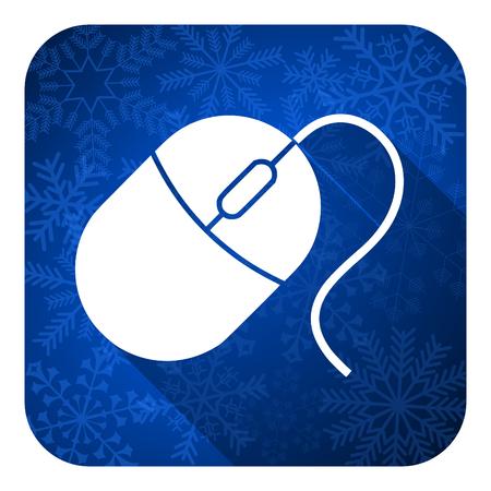 computer mouse flat icon, christmas button photo