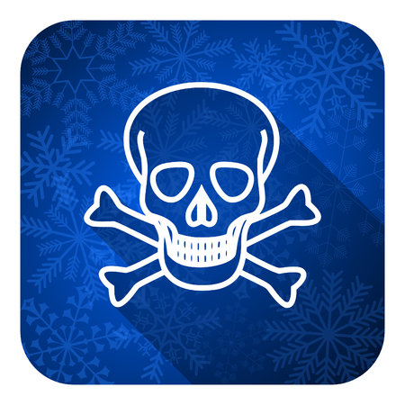 pirating: skull flat icon, christmas button, death sign