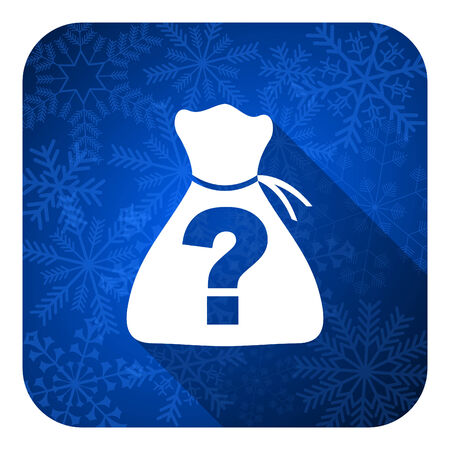 riddle: riddle flat icon, christmas button Stock Photo