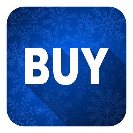 christmas profits: buy flat icon, christmas button
