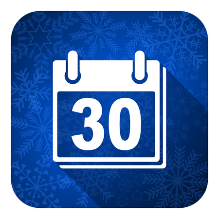calendar flat icon, christmas button, organizer sign photo