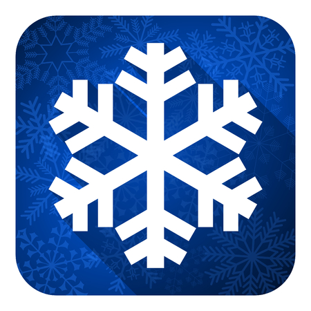 snow flat icon, christmas button, air conditioning sign photo