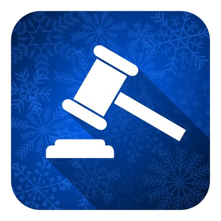 auction flat icon, christmas button, court sign, verdict symbol photo