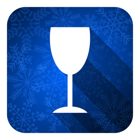 champain: alcohol  flat icon, christmas button, glass sign