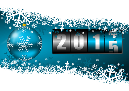 turns of the year: 2015 new year illustration with counter