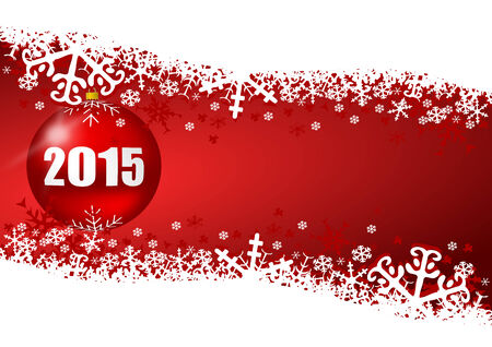 2015 new years illustration with christmas ball illustration