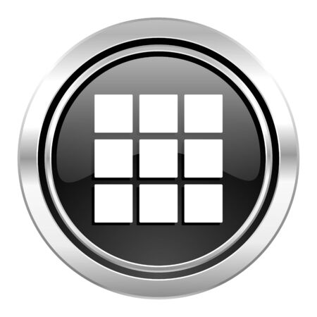 thumbnails: thumbnails grid icon, black chrome button, gallery sign