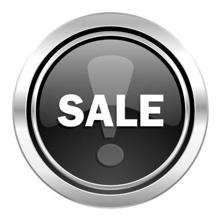 sale icon: sale icon, black chrome button