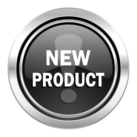 product icon: new product icon, black chrome button
