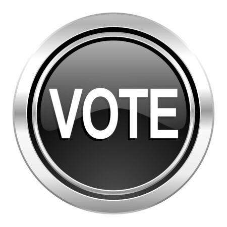 vote icon: vote icon, black chrome button