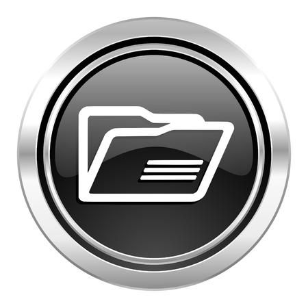 folder icon: folder icon, black chrome button