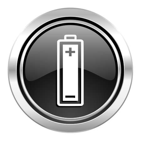 battery icon: battery icon, black chrome button, power sign