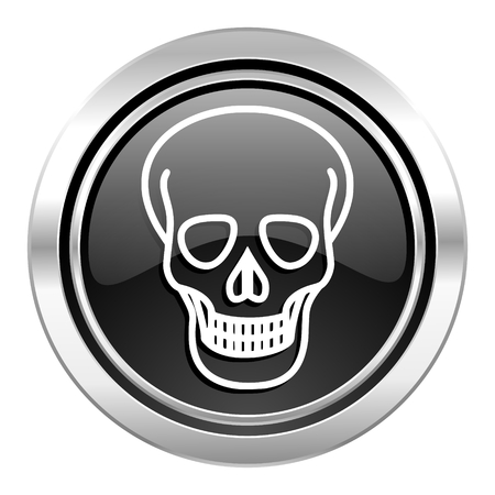pirating: skull icon, black chrome button, death sign