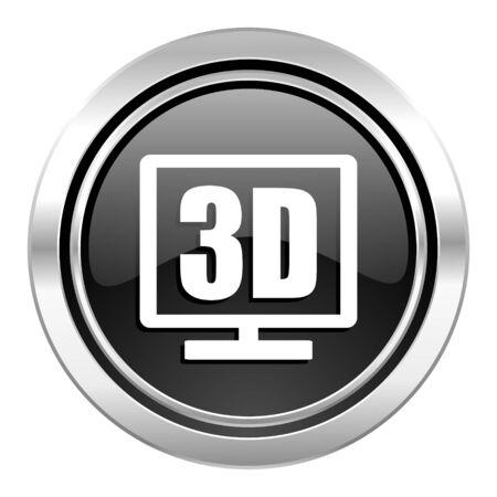 programm: 3d display icon, black chrome button