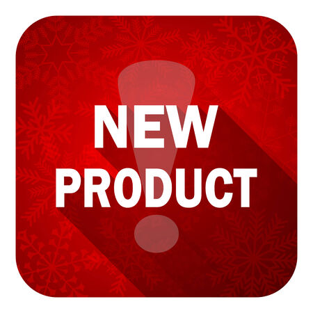 new product flat icon, christmas button photo