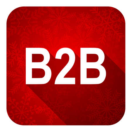 b2b: icono plana b2b bot�n, navidad