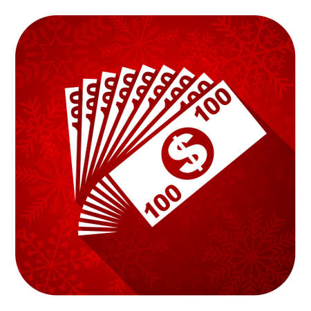 money flat icon, christmas button, cash symbol photo