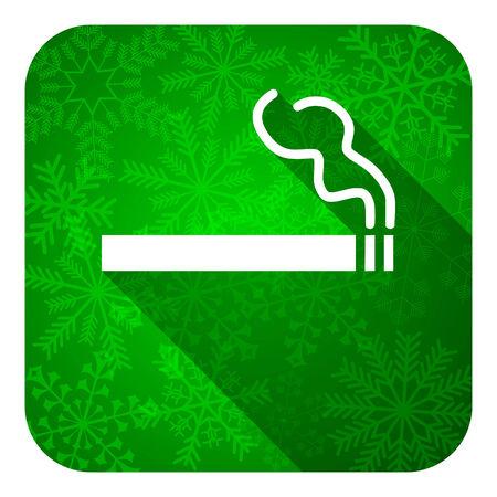 cigarette flat icon, christmas button, nicotine sign photo