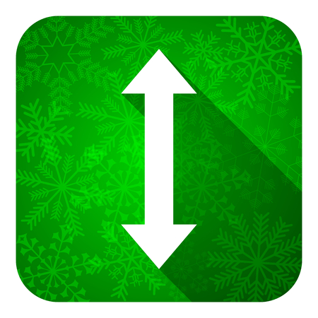 sterring: arrow flat icon, christmas button Stock Photo
