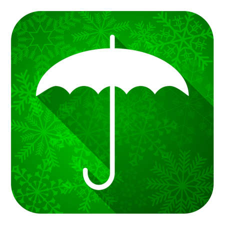 umbrella flat icon, christmas button, protection sign photo