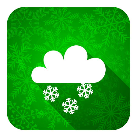 snowing: snowing flat icon, christmas button, waether forecast sign