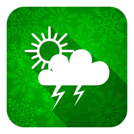 storm flat icon, christmas button, waether forecast sign photo