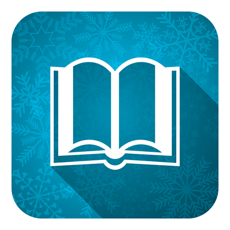 book flat icon, christmas button photo