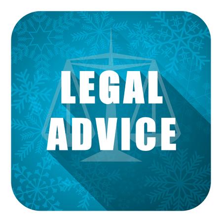 asesoria legal: icono de asesoramiento jur�dico plana, bot�n navidad, signo ley Foto de archivo
