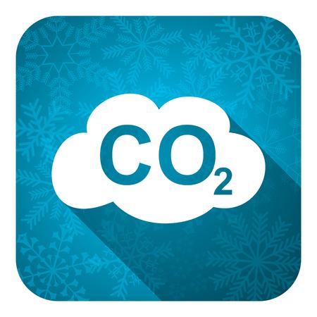co2: carbon dioxide flat icon, christmas button, co2 sign Stock Photo