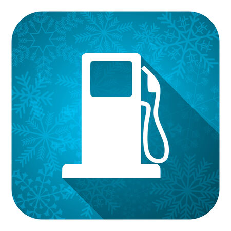 petrol flat icon, christmas button, gas station sign photo