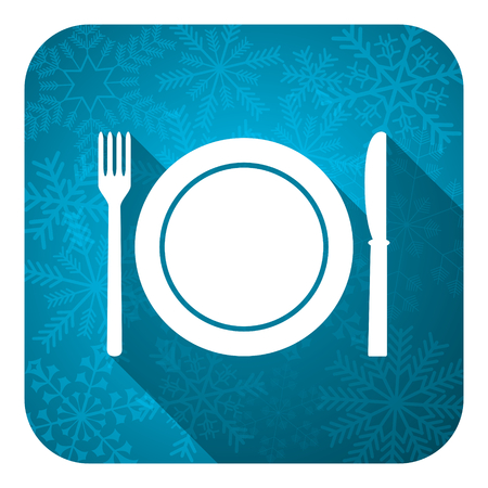 eat flat icon, christmas button, restaurant symbol photo