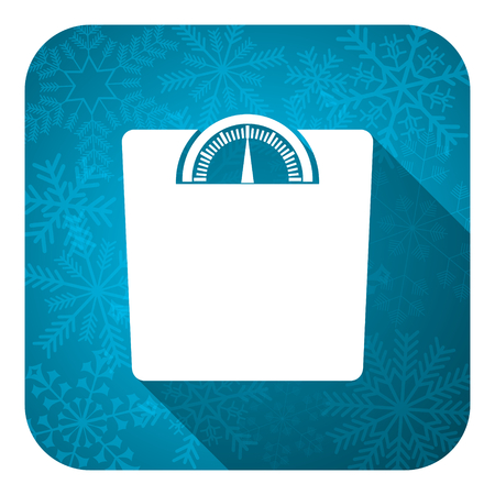 weight flat icon, christmas button photo