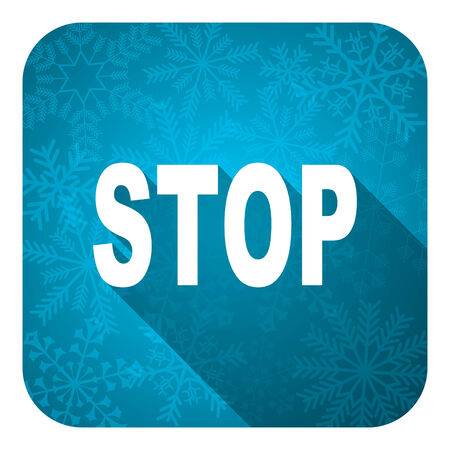 proscribed: stop flat icon, christmas button