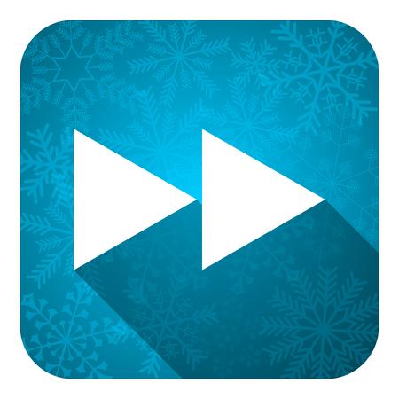 rewind: rewind flat icon, christmas button