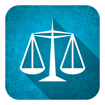 criminal act: justice flat icon, christmas button, law sign