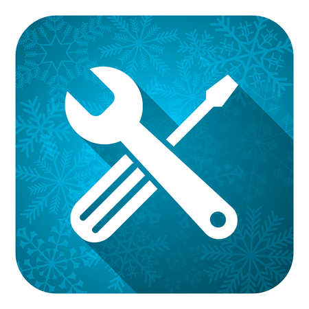 tools flat icon, christmas button, service sign photo
